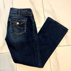 Like New Silver Suki bootcut dark wash jeans 30X30